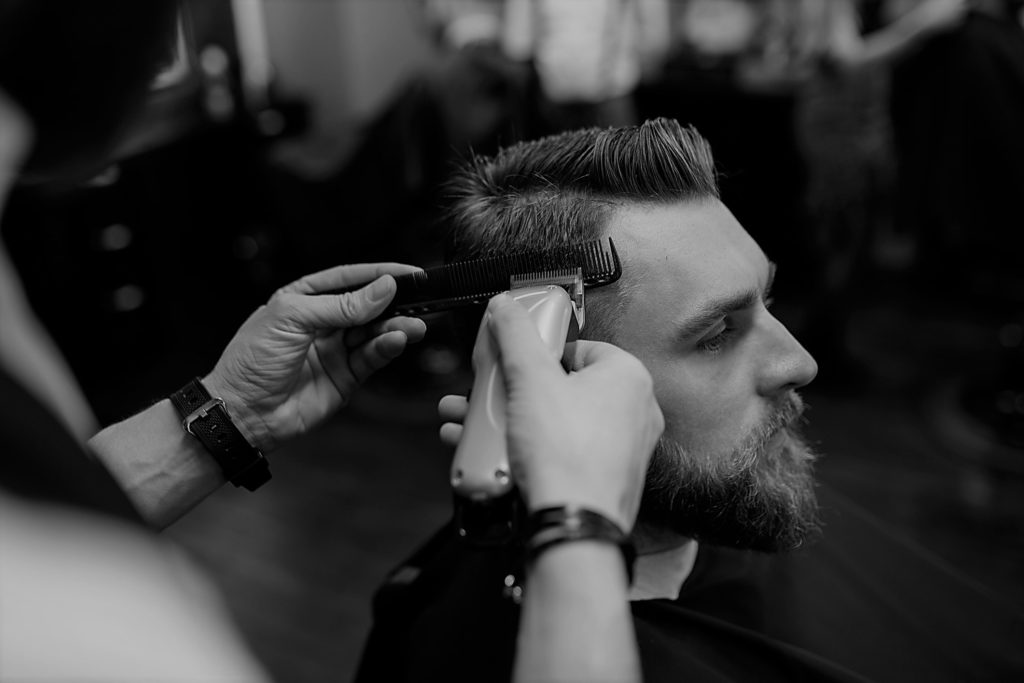 classic man cut and shave